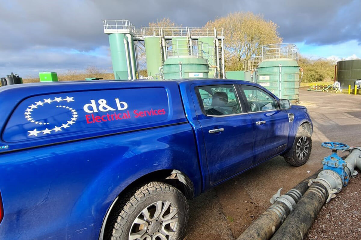 D&B Electrical. Installing Telemetry Cabling at Water Waste Site, photo #2