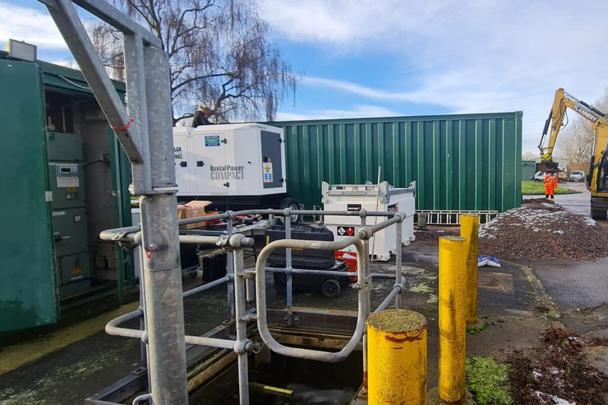 Temporary Generator Install at Water Waste Site