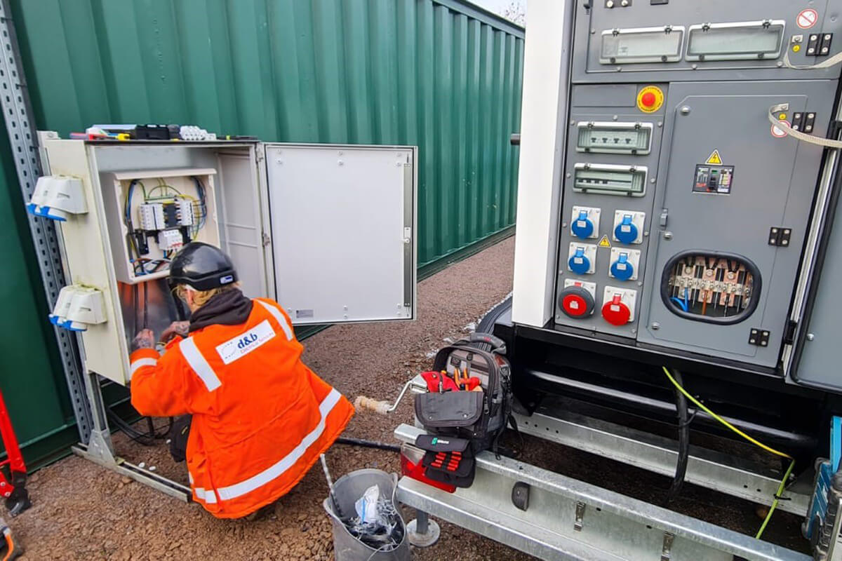 D&B Electrical. Temporary Generator Install at Water Waste Site, photo #3